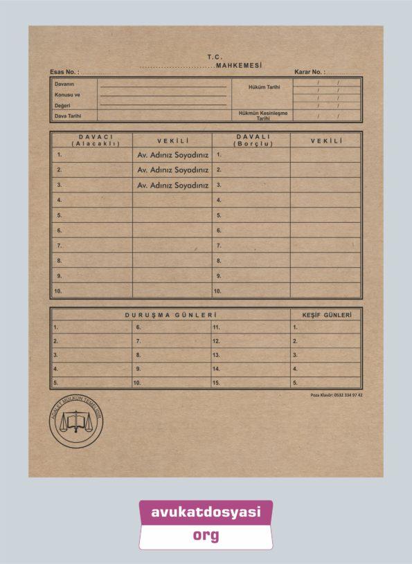 Avukat İcra Dosyası 62