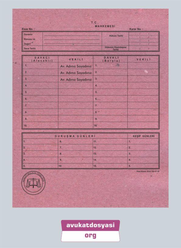Avukat İcra Dosyası 86