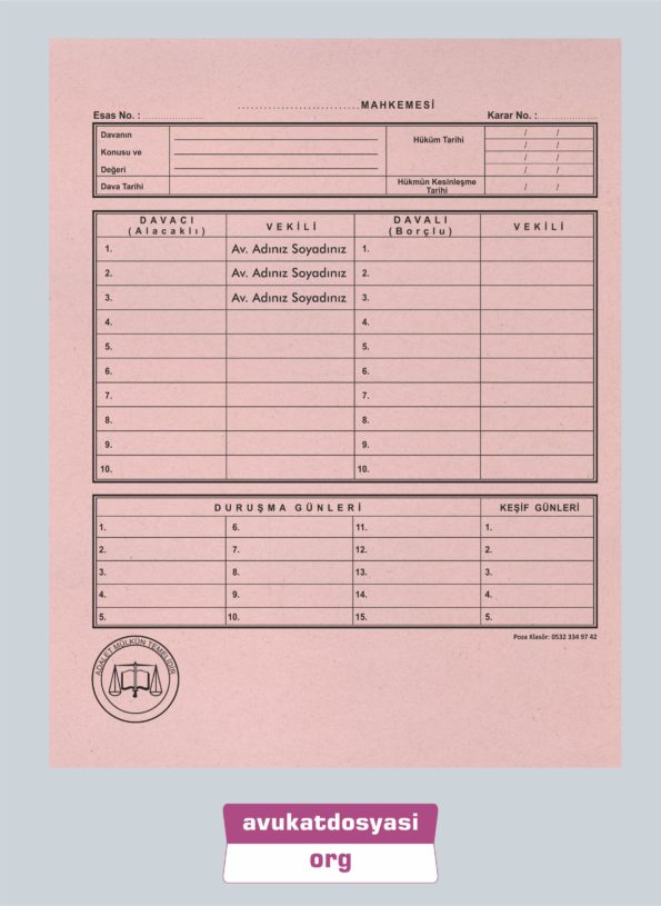 Avukat İcra Dosyası 61